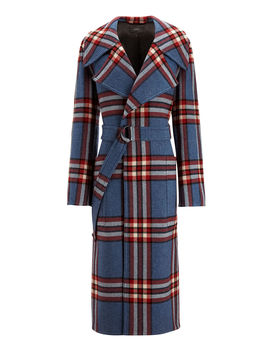 Teodor Large Military Check Coat by Joseph