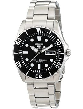 Seiko Men's Analogue Automatic Watch With Stainless Steel Bracelet – Snzf17 K1 by Seiko