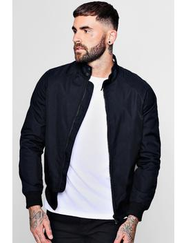 Raglan Harrington Jacket With Sports Tipping by Boohoo