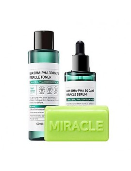 [Some By Mi] Aha Bha Pha 30 Days Miracle Toner + Serum + Cleansing Bar by Style Korean