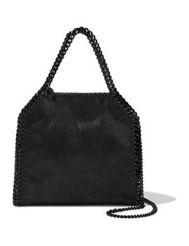 Chain Trimmed Coated Faux Suede Shoulder Bag by Stella Mc Cartney
