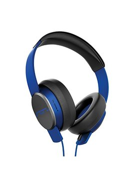 "Sol Republic Master Tracks X3 Over Ear Headphones – Noise Isolation, Club Like Sound, Mic + Music & Siri Control, 1/4"" Adapter, Virtually Indestructible, 1601 36 Electro Blue by Sol Republic"