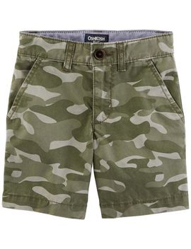 Stretch Camo Print Shorts by Oshkosh