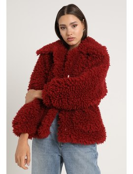 Boxy Shaggy Borg Jacket   Vinterjakke by Missguided