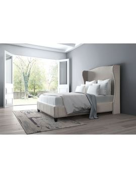 Enlightenment King Bed Beige by Zuo
