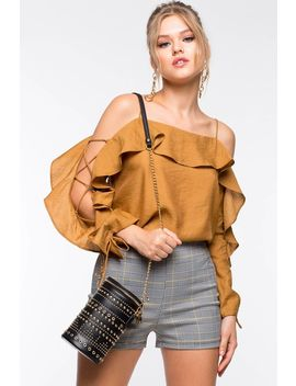 Lorena Lace Up Off Shoulder Top by A'gaci