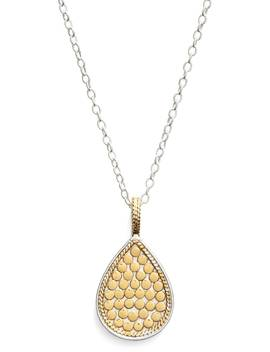 'gili' Reversible Teardrop Pendant Necklace by Anna Beck