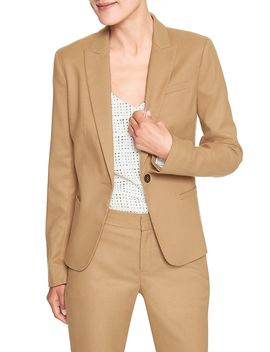 Machine Washable Brushed Twill Classic Suit Blazer by Banana Republic Factory