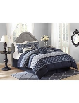 Better Homes And Gardens Indigo Paisley 7 Piece Bedding Comforter Set by Better Homes & Gardens