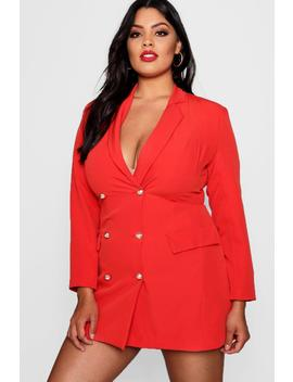Plus Catriona Button Blazer Dress by Boohoo