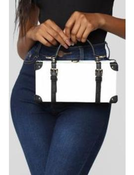 Here's The Case Satchel   White by Fashion Nova