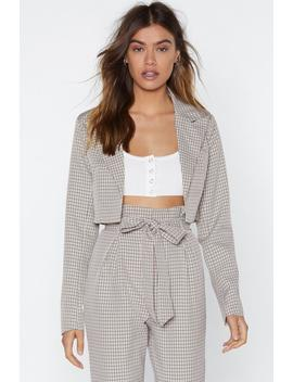 Check In Cropped Jacket by Nasty Gal