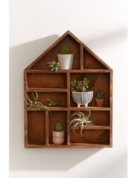 House Wooden Shelf by Urban Outfitters