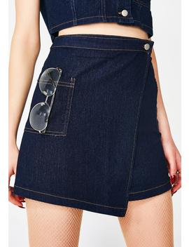 Fly Chick Denim Skirt by Wild Honey
