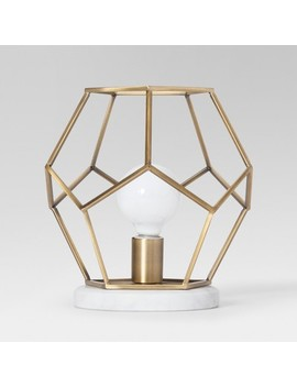 Geometric With Marble Accent Lamp Brass   Project 62™ by Shop All Project 62™