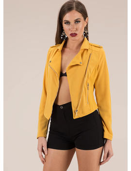Calling All Cool Girls Moto Jacket by Go Jane