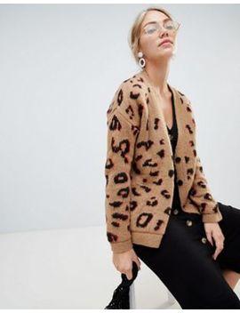 Asos Design – Grov Kofta I Leopardmönster by Asos