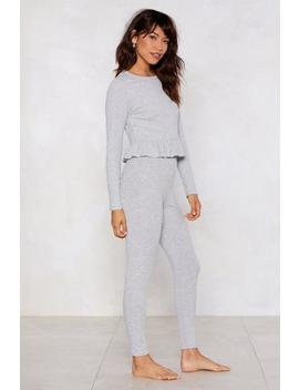 Give It A Rest Top And Leggings Set by Nasty Gal