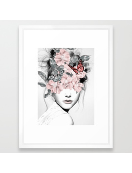 Woman With Flowers 10 Framed Art Print by