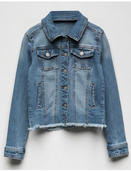 Celebrity Pink Fray Edge Girls Denim Jacket by Celebrity Pink