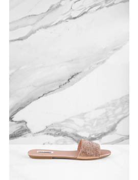 Like A Diamond Rose Gold Sandals by Tobi