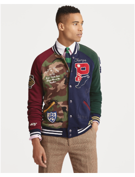 Patchwork Baseball Jacket by Ralph Lauren