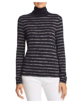 Landon Striped Turtleneck Tee by Rag & Bone/Jean