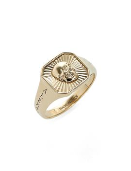 Square Skull Medallion Ring by Alexander Mcqueen