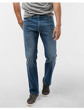 Slim Straight Medium Wash Tough Stretch+ Jeans by Express