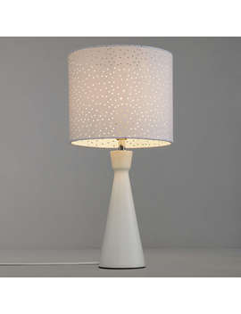 John Lewis Alice Starry Sky Touch Table Lamp, White by John Lewis
