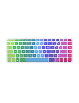 Colorful Keyboard Cover For Hp Stream 14 Inch Laptop | Hp Stream 14 Ax Series | 14 Inch Hp Pavilion 14 Ab 14 Ac 14 Ad 14 Al 14 An 14 Cb Series Protective Skin, Rainbow by Case Buy