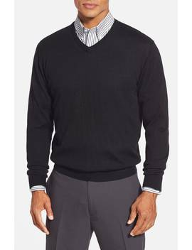 'douglas' Merino Wool Blend V Neck Sweater by Cutter & Buck