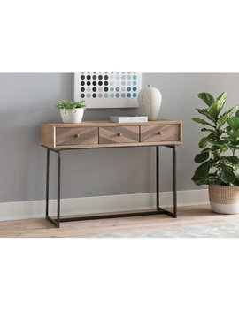 Cole & Grey Wood And Metal Console Table & Reviews by Cole & Grey