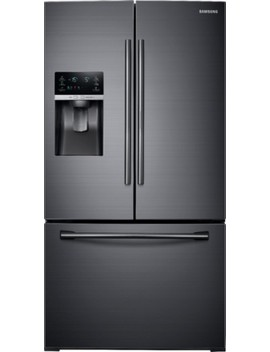 27.8 Cu. Ft. French Door Refrigerator With Food Show Case Fridge Door   Fingerprint Resistant Black Stainless Steel by Samsung