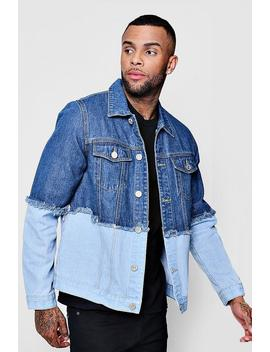 Spliced Denim Jacket by Boohoo