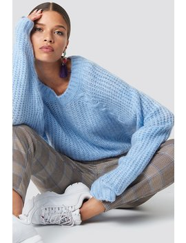 Balloon Sleeve Sweater Pullover by Na Kd