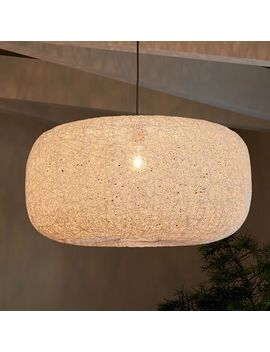 Open Weave Pendant, White, Large by West Elm