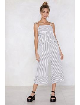 See You At The Finish Line Striped Cami Top And Pants Set by Nasty Gal