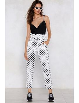 Dot To Go Polka Dot Pants by Nasty Gal