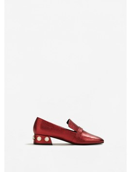 Appliqué Heel Loafers by Mango