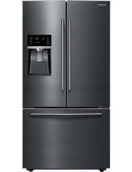 28 Cu. Ft. French Door Refrigerator   Fingerprint Resistant Black Stainless Steel by Samsung