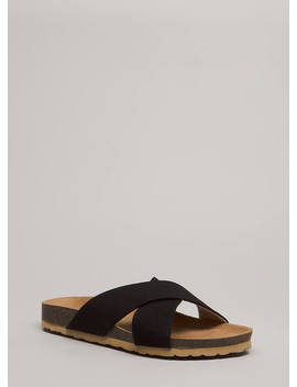 Madame X Faux Suede Slide Sandals by Go Jane