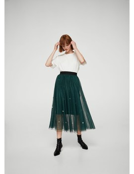 Bead Tulle Skirt by Mango