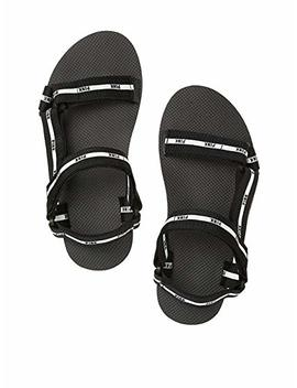 Victoria's Secret Women's Strappy Slide Rubber And Canvas Sandals by Victoria's Secret