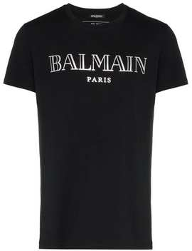 Balmain Logo Print T Shirthome Men Balmain Clothing T Shirts by Balmain