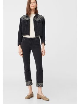 Embroidered Skinny Lurex Jeans by Mango