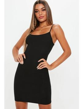 Black Strappy Cami Mini Dress by Missguided