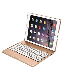 Youngfun I Pad 2,3,4 Keyboard Case,Premium Portable Durable Abs Material Wireless Bluetooth Keyboard Case Cover With Built In Rechargeable 2800m Ah Powerbank For Apple I Pad 2,3,4   Gold by Youngfun