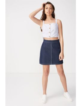 Denim Aline Skirt by Cotton On