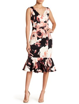 Floral Scuba Midi Dress by Marina
